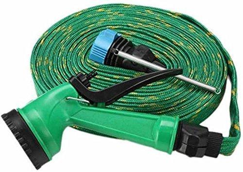 Rachees Water Spray Gun 10 Meter Hose Pipe  House, Garden  amp; Car Wash Hose Pipe  Green