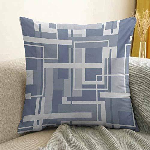 Geometric Bedding Soft Pillowcase Minimalist Futuristic Digital Bars Stripes Hightech Style Illustration Hypoallergenic Pillowcase W16 x L24 Inch Cadet Blue Grey - Towel Bar Sonora