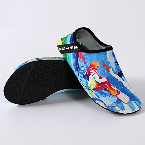 Socks blue1 Shoes Dry Slip Shoes Yoga T Sports Exercise Skin Women Multifunctional Anti Breather Water EQUICK Barefoot Quick q8pOpw