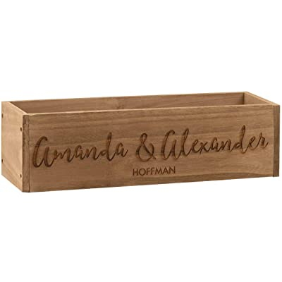 "Fox Valley Traders Personalized Rustic Planter Box, Decorative Barnwood Centerpiece Display Tray, Family Name, 18"" Long x 5"" Wide x 5"" High: Home & Kitchen"