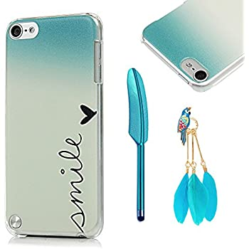 MOLLYCOOCLE iPod Touch 5 Case with Stylus Pen and Bird Feather Shaped Anti-dust Plug