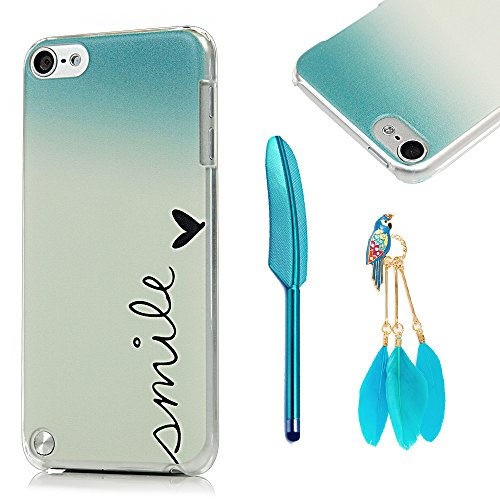 MOLLYCOOCLE iPod Touch 5 Case with Stylus Pen and Bird Feather Shaped Anti-dust Plug (Ipod Cases For Girls 5 Touch)