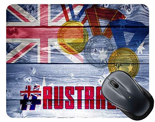 BRGiftShop Sport Games Hashtag Team Australia #Australia Square Mouse Pad