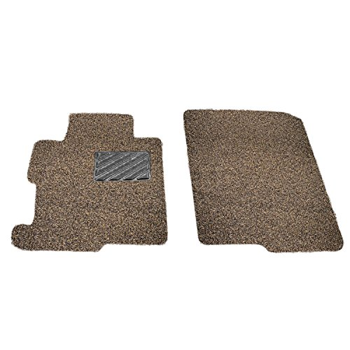 Custom Fit Heavy Duty Custom Fit Car Floor Mat for 2013-2018 Land Rover Range Rover SUV, All Weather Protector 2 Pieces Front Seat Set (Beige and Brown)