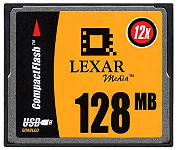 Amazon.com: Lexar Media – 128 MB 12 x CompactFlash CF de ...