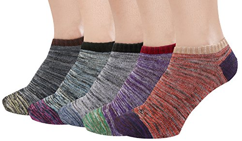 Landiterra Womens Thick Knit Warm Wool Socks Comfort Crew Winter Sock Pack of 5 Color Multicolor Size S