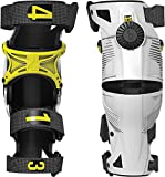 Mobius X8 Knee Braces-White/Acid Yellow-L