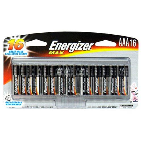 Energizer Max Alkaline Batteries, AAA , 16 batteries