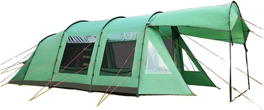 Tiendas de túnel Tienda De Campaña Tienda De Campaña Al Aire Libre Tienda De Campaña para 5-8 Personas Tienda De Campaña Familiar Súper Tienda De Campaña Impermeable A Prueba De Lluvia: Amazon.es: