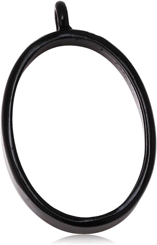 Open Back for Resin Polymer 10PCS 25*25mm Square Open Back Bezel Pendant etc Open Back Frame with 1 Loop 100229