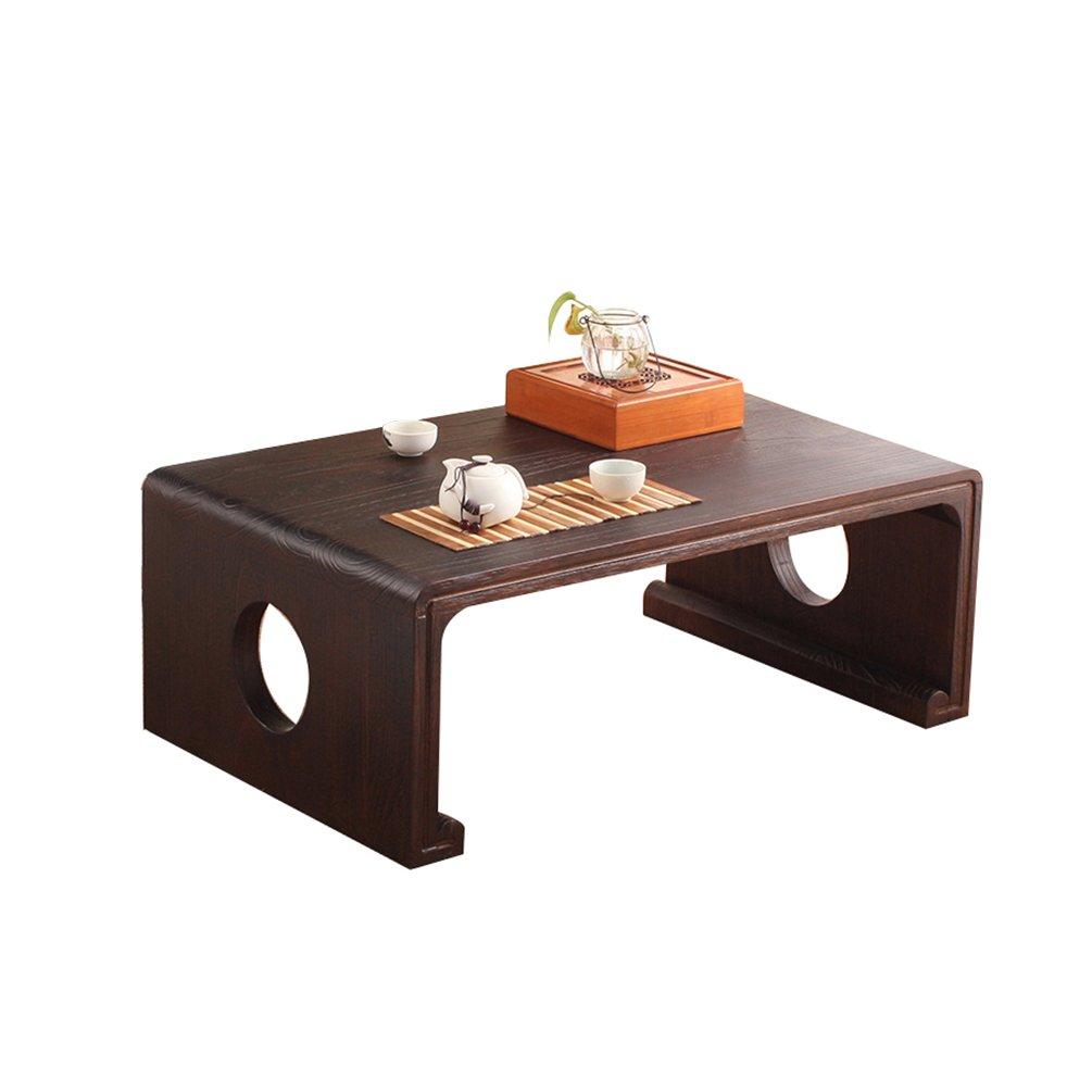 XXHDYR Massivholz-Esstisch Japanische Tatami-Teetisch Schwimmende Fenstertisch Soft-Boden-Tisch Japanische Tatami-Tee-Tabelle Schwimmenden Tisch Material Klapptisch