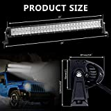 Rigidhorse 22 LED Light Bar 5D 200W 20000LM for Offroad 4x4 Jeep Truck ATV SUV Boat.