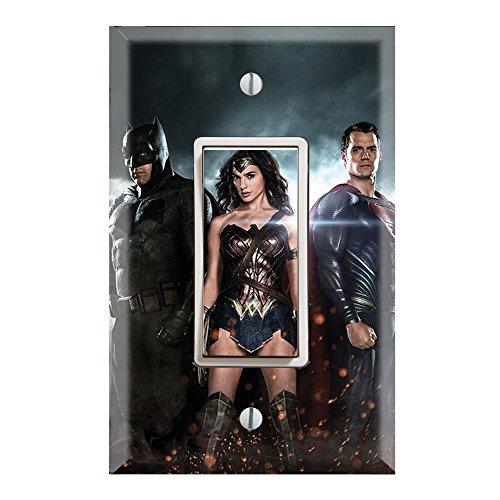 Single Rocker Wall Switch/Outlet Cover Plate Decor Wallplate - Superheroes Batman Superman Wonder Women by Decorate Plus