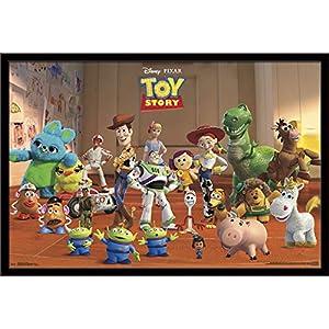Trends International Disney Pixar Toy Story 4 – Collage Wall Poster, 22.375″ x 34″, Black Framed Version