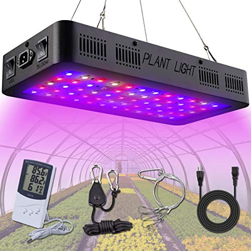 $86.99 Hydroponics Kits Golspark Indoor LED Grow Light, 600 Watt Full Spectrum Plant Light with Switch, IR&UV Growing Lamp Kits for Greenhouse Hydroponic Seedling Veg and Flower 2019