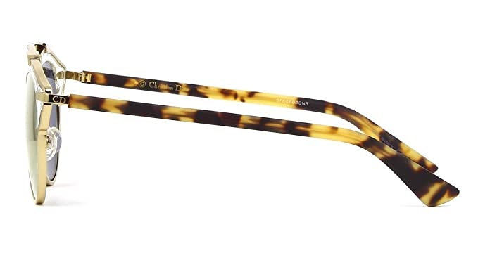 e4e83d148a Amazon.com  New Christian Dior SO REAL YN1 MV A gold havana grey gold  mirror Sunglasses  Clothing