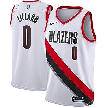 PQCHNBA NBA Portland Trail Blazers Damian-Lillard 0 Swingman Men Jersey (Blanco, S): Amazon.es: Deportes y aire libre