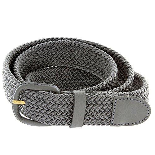 Men's Elastic Braided Stretch Belt (Round Covered Buckle Belt)