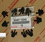 Toyota 90467-12040 Tacoma, RAV4, 4Runner, Grille Clips OEM, Set of 10
