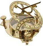 """4"""" Sundial Compass - Solid Brass Sun Dial"""