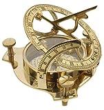 4″ Sundial Compass – Solid Brass Sun Dial