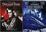 Tim Burton's Edward Scissorhands & Sweeney Todd 2-DVD Bundle Double feature Johnny Depp