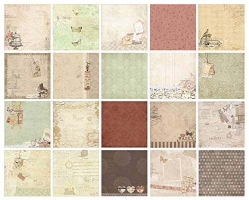 IDULL Floral Scrapbook Paper Collection Kits 8x8 40 Sheets
