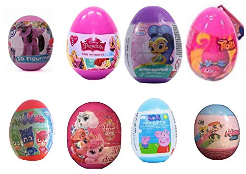 8 girls mix plastic Surprise Eggs. Exciting and Fun Toy By Bon Bon Buddies for Children As Seen in Unboxing and Unwrapping Videos on Youtube. -