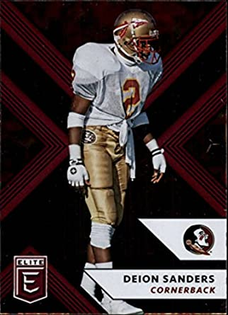 c6f47d976 2018 Panini Elite Draft Picks  30 Deion Sanders Florida State Seminoles  Football Card