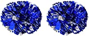 1 Pair Cheerleader Poms, Handheld Dance Party School Sports Competition Poms Pompoms