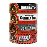 Gorilla Tape Large Roll Tough Pack including Black, White, Silver and Blaze Orange Duct Tape