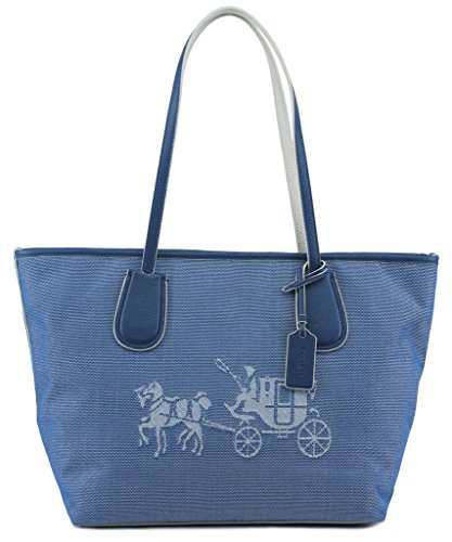 Coach 35337m Canvas Horse and Carriage Taxi Tote - And Handbag Coach Horse Carriage