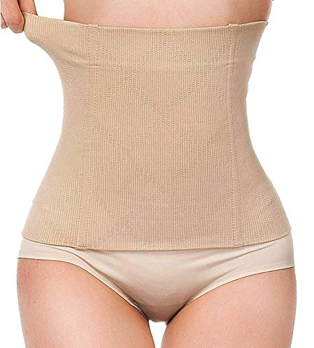 LODAY 2 in 1 Postpartum Recovery Belt,Body Wraps Works for Tighten Loose Skin Beige