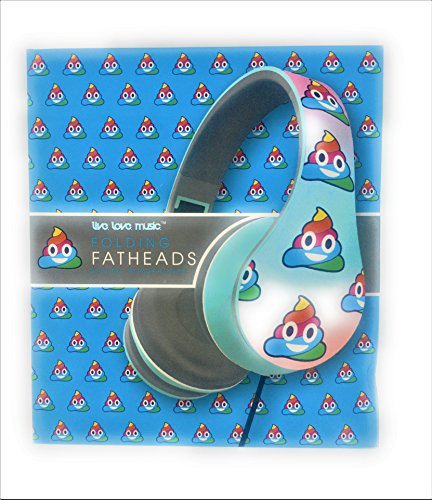 Zoe House Of Cards Costume (New Rainbow Emoji Folding Fatheads Over The Ear Headphones Quality Stereo Sound by Live Love Music)
