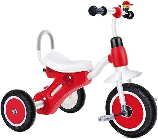 Bicicleta de Acero con Alto Contenido de Carbono para triciclos de niños Bicicleta para niños de 2-5 años con música e iluminación (Color : Rojo): Amazon.es: Hogar