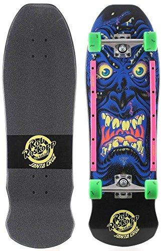 Santa Cruz Rob Roskopp Face Complete Skateboard Black w/Slime Balls - Complete Rob Skateboards