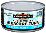 Crown Prince Natural Solid White Albacore Tuna in Spring Water, 12-Ounce Cans (Pack of 12)