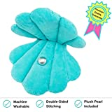 Oyster Shell Shaped Floor Pillow or Decorative Pillow Complete with a Pearl - Everyday Fun for a Little Mermaid or Perfect Addition to a Beach House