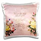 PS Inspirations – Faith, Hope and Love Bible Verse with Roses – 16×16 inch Pillow Case (pc_108699_1)