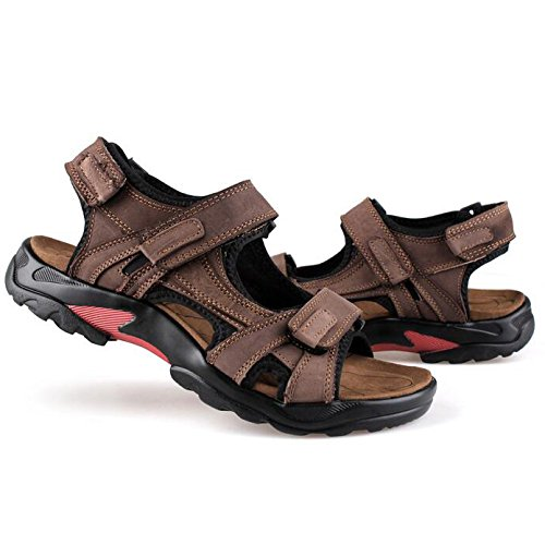 À Chaussures De Respirantes En D'été Pour Cuir Sport Coffee Sandales Ouvert Plage Pêcheur Hommes Bout pBxH0qwa