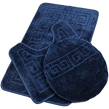 Amazon.com: 3 Piece Bath Rug Set Pattern Bathroom Rug (20\