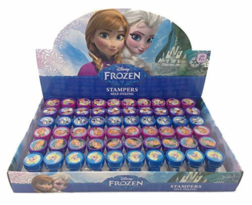 Royal Rubber Stamp - Disney Frozen Elsa, Anna and Olaf Self-inking Stamps Birthday Party Favors (Complete Box)