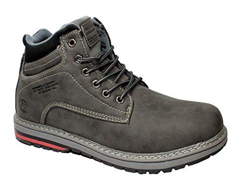 Herren Schuhe Boots Winterstiefel Winterschuhe Wanderschuhe Gefüttert 41-46 Grau