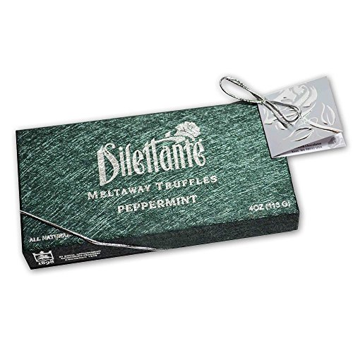 Peppermint Meltaway Truffles - Chocolate Truffle Gift Box - by Dilettante (3 Pack) - Anniversary Mint Chocolate