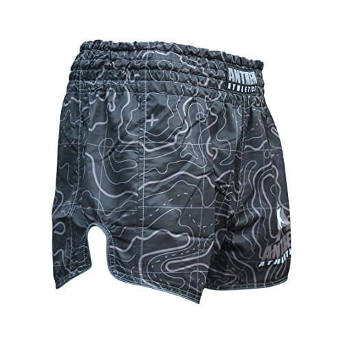 NEW! 10+ Styles - Anthem Athletics RECKONER Retro Muay Thai Shorts - Kickboxing, Thai Boxing - Black Topography - XX-Large