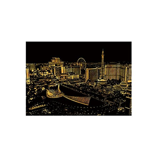 Lago Scratch Paper Famous City Night View Series Las Vegas, Scratch Paper, Art Paper - Night View Series