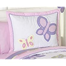 Pink and Purple Butterfly Collection Pillow Shams by Sweet Jojo Designs