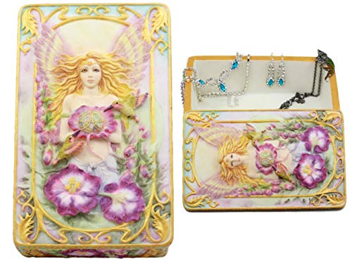 - Ky & Co YK Jody Bergsma Art Gallery Faith Fairy Jewelry Box Figurine 6.5