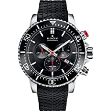 Edox Men's Edox Chronorally S 44mm Black Rubber Band Titanium Case Quartz Analog Watch 10227 Tinca NINN