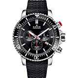 Edox Men's Edox Chronorally S 44mm Black Rubber Band Titanium Case...